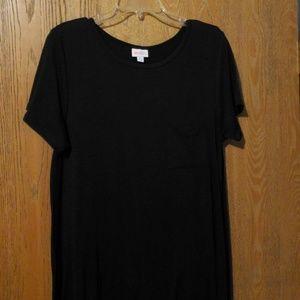 Lularoe black carly dress